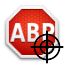 Pictogram van Element Hiding Helper voor Adblock Plus