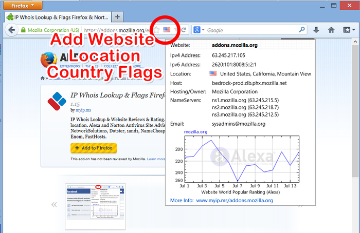 Whois Lookup & Hosting & DNS & Site Flags Firefox :: Add-ons