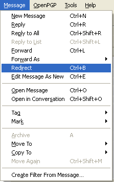 Mail Redirect :: Add-ons for Thunderbird