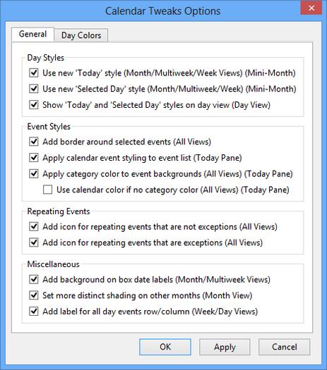 Calendario 21 Day Fix.Calendar Tweaks Complementos Para Thunderbird