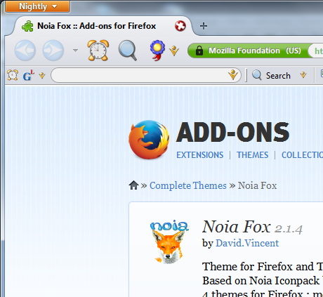 Old Firefox Theme
