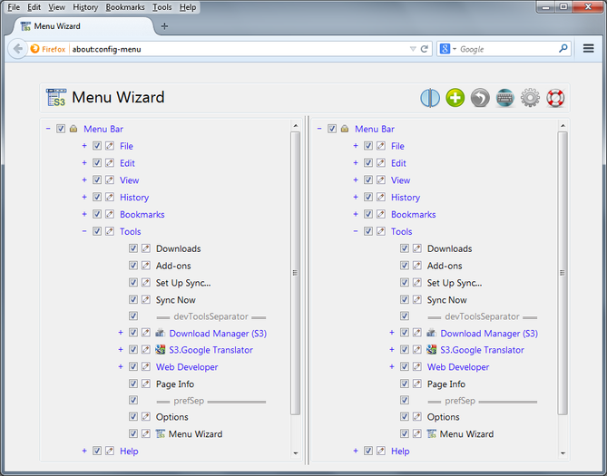 Menu Wizard :: Add-ons for Thunderbird
