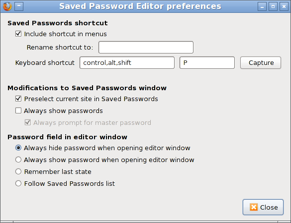 Saved Password Editor :: Add-ons for Thunderbird