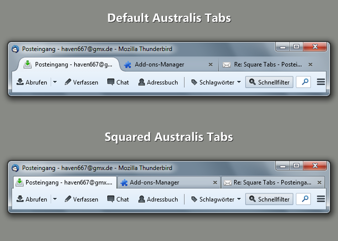 Squared Australis Tabs (Tb) :: Add-ons for Thunderbird