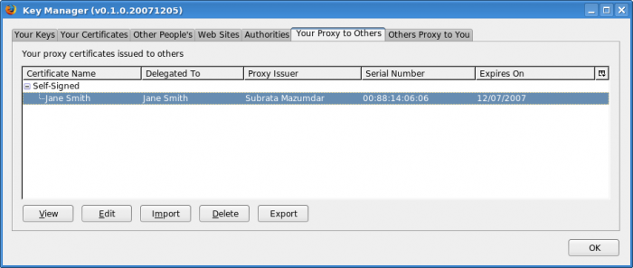 Key Manager :: Add-ons for Thunderbird