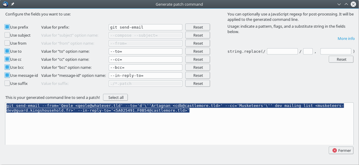 Generate patch command :: Add-ons for Thunderbird