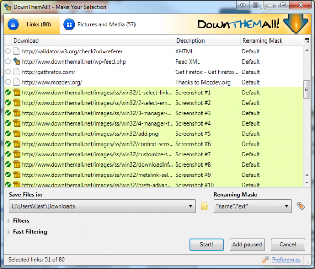 DownThemAll! :: Add-ons for Firefox