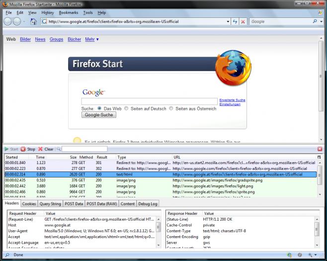 HttpFox :: Add-ons for Firefox