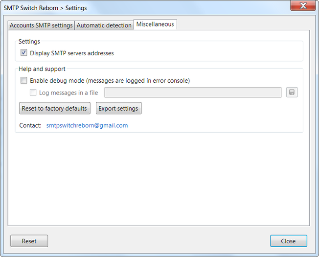 SMTP Switch Reborn :: Add-ons for Thunderbird