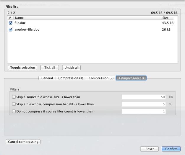 compress doc files