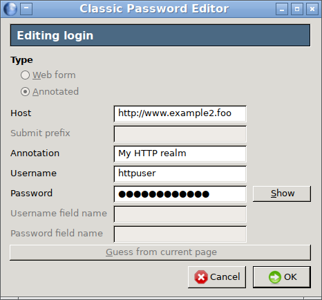 Classic Password Editor :: Add-ons for Thunderbird