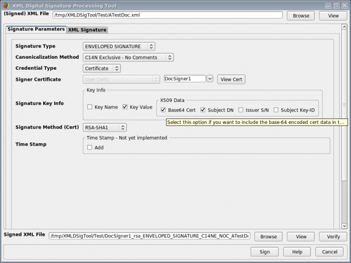 XML Digital Signature Tool :: Add-ons for Thunderbird