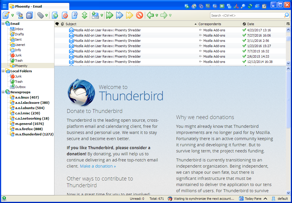 Phoenity Shredder :: Add-ons for Thunderbird