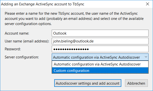 Provider for Exchange ActiveSync :: Add-ons for Thunderbird