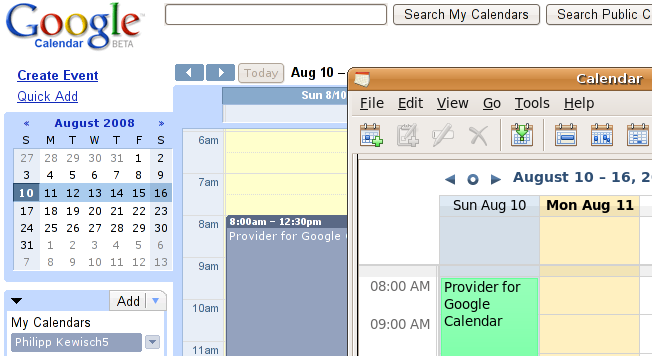 provider for google calendar thunderbird 向けアドオン