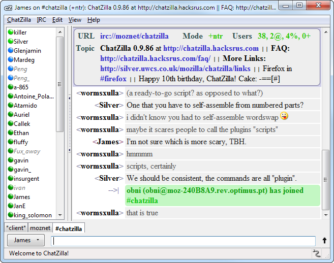ChatZilla :: Add-ons for Firefox