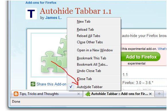 Autohide Tabbar :: Add-ons for Firefox