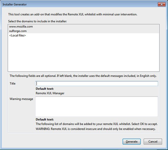 Remote XUL Manager :: Add-ons for SeaMonkey