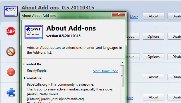 about add ons add ons for thunderbird