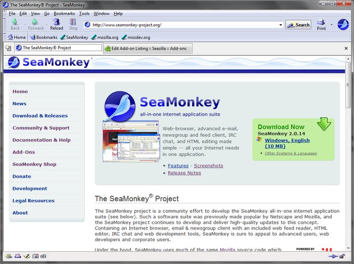 Seazilla :: Add-ons for SeaMonkey