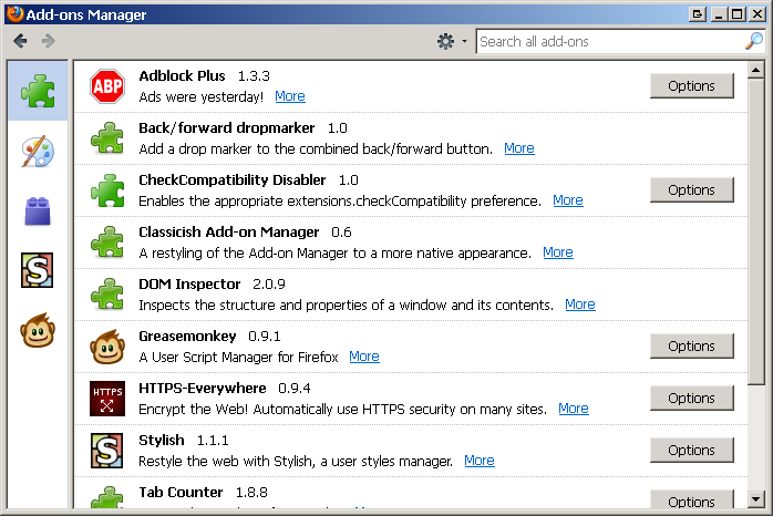 Classicish Add-on Manager :: Add-ons for Thunderbird