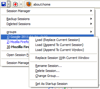 Session Manager :: Add-ons for Firefox