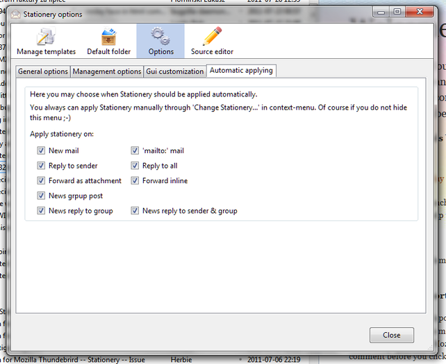 Stationery Add Ons For Thunderbird