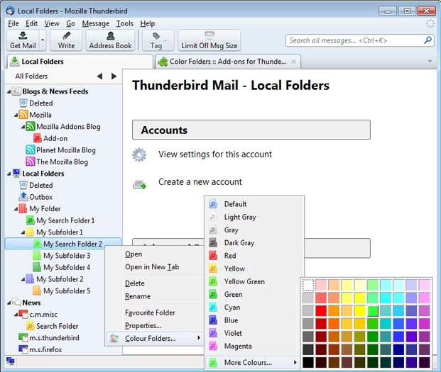 How to customize incoming Outlook messages with color and font