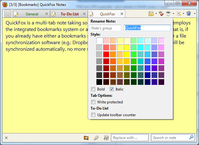 Notepad (QuickFox) :: Add-ons for Firefox