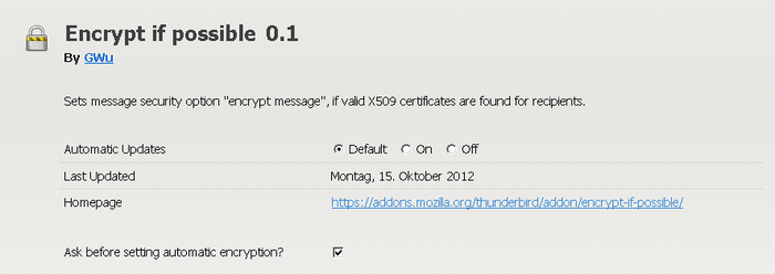 Encrypt if possible :: Add-ons for Thunderbird